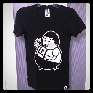 Johnny Cupcakes Black & White Graphic Tee T-shirt